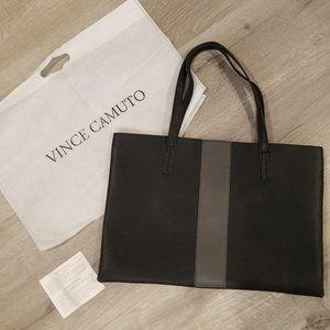 Vince Camuto Black Gray The Luck Tote Bag